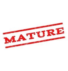 Mature watermark stamp vector