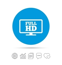 Full hd widescreen tv high-definition symbol vector