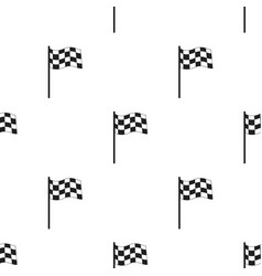 Checkered flag icon black single sport icon from vector
