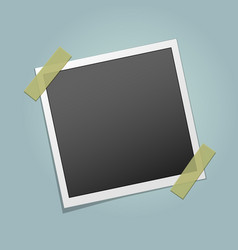 Photo frame on adhesive sticky tape vector