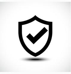 Tick shield security icon vector