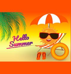 Background summer design concept vector