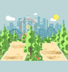 scene landscape alley vector image