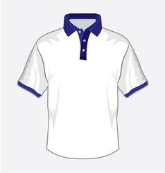 Polo majica bela teget kragna resize vector image