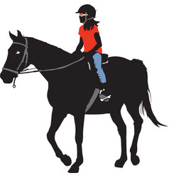 Horseback riding vector