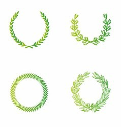 Laurels template vector