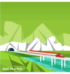 Rail tourism vector