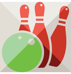 Bowling icon vector