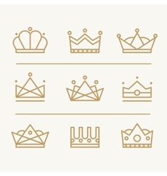 Crown icons vector