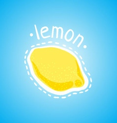 Juicy lemon on a blue background vector