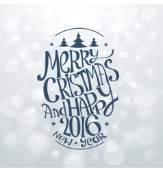 Hand drawn christmas banners typography vector