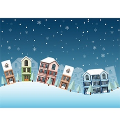 Cityscape winter4 vector