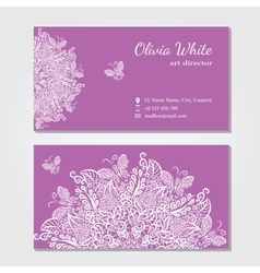 Business card violetbackground vector