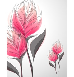 Vriesea - beautiful pink flower vector