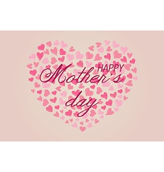 Happy mothers day with cute hearts vector
