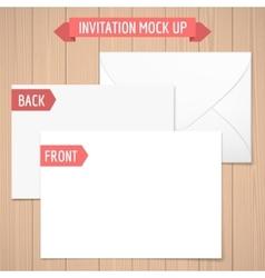 Invitation mock up vector