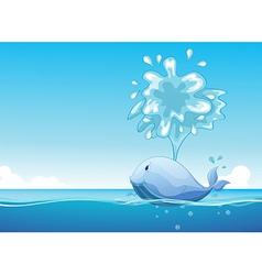A big fish vector image