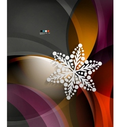 Abstract Christmas wave snowflake background vector image
