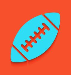 american simple football ball whitish vector image