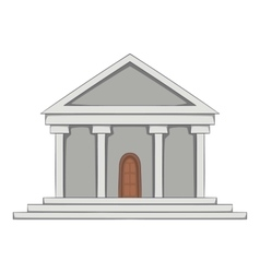 Big building icon cartoon style vector image
