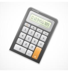 black calculator vector image
