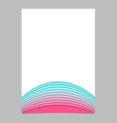 Brochure template from curved stripe layers - vector
