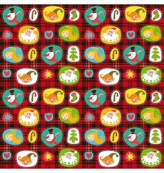 Christmas set wrapping paper plaid tartan pattern vector image vector image