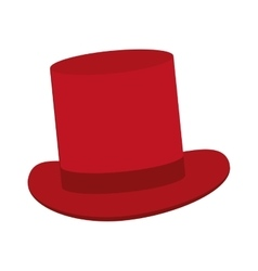Classic red tophat vector