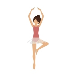 Colorful dancer pirouette fifth position vector
