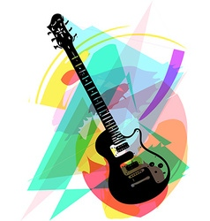 colorful electric guitar vector image