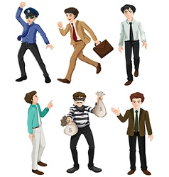 Different work of men vector image vector image