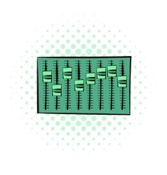 Equalizer comics icon vector