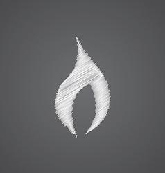 fire sketch logo doodle icon vector image vector image