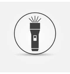 Flashlight icon vector image