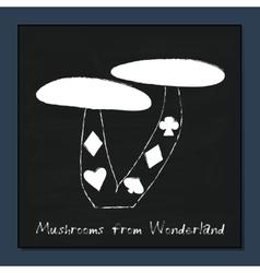 Mushrooms from Alice Adventures in Wonderland vector image