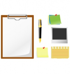 office accessories vector image vector image