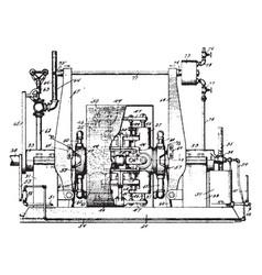 Rotary engine vintage vector