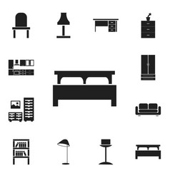 set of 12 editable furnishings icons includes vector image