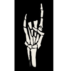 Skeleton hands vector