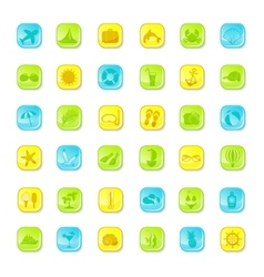 Summer bright icons vector image vector image