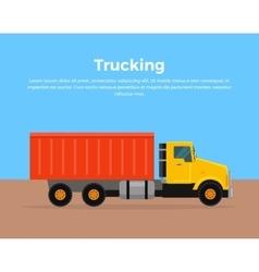 Trucking banner flat design vector