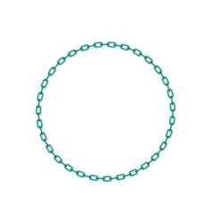 Turquoise chain in shape of circle vector
