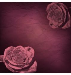 Vintage rose flowers vector