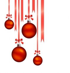 Christmas balls hang vector image