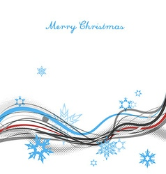 Christmas background with snow flakes lines and vector image