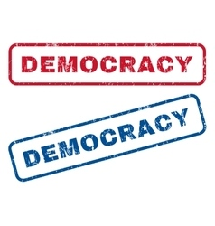 Democracy rubber stamps vector