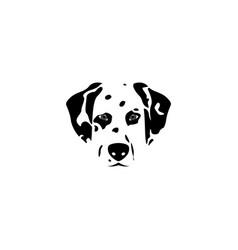silhouette dalmatian dog vector image