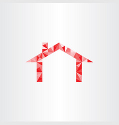 Red house geometric triangles vector