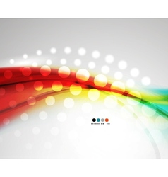 Abstract red shiny wave pattern vector image