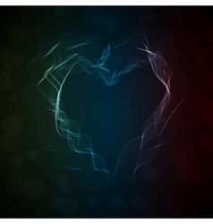 Glowing smoke heart vector